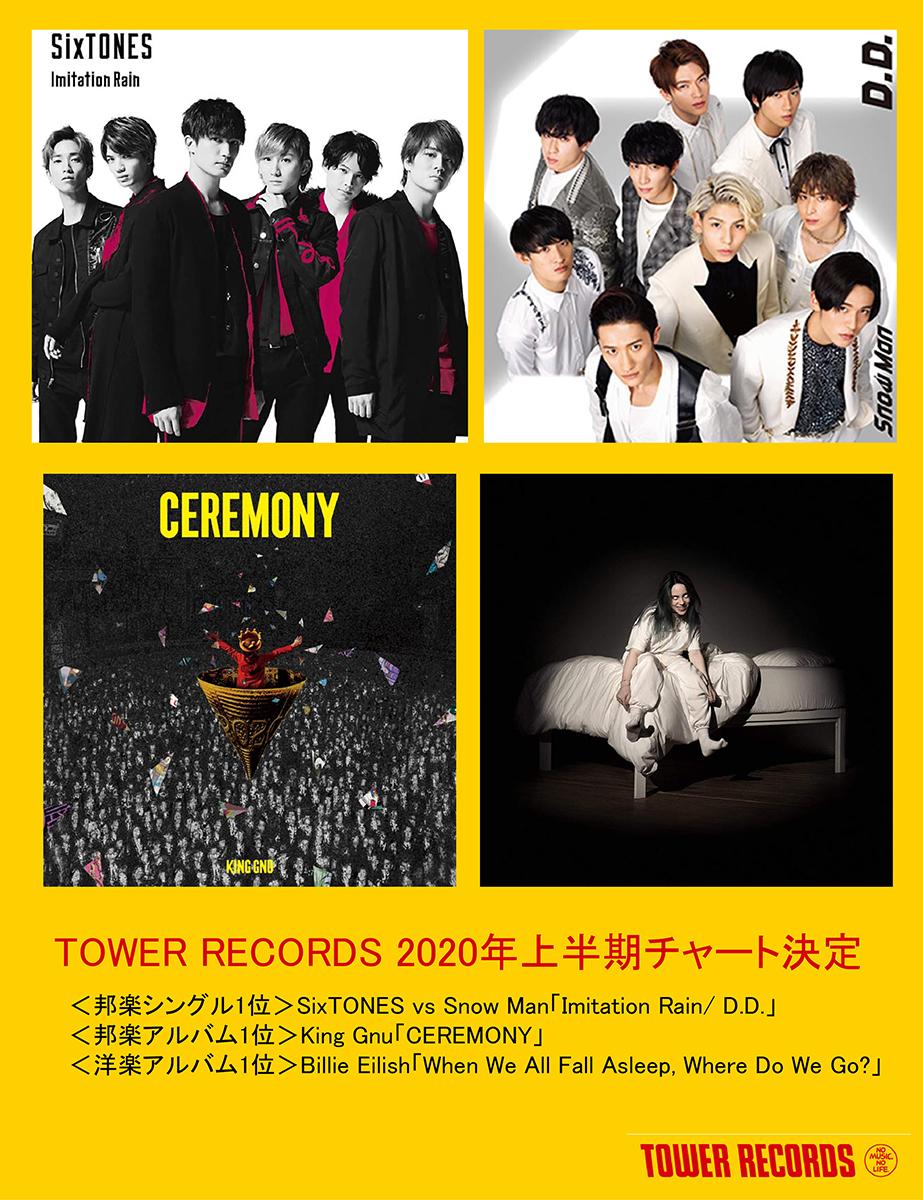 タワーレコード2020年上半期チャート