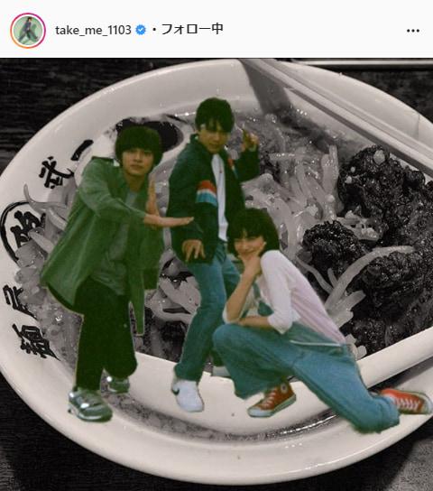 DISH//北村匠海公式Instagram(take_me_1103)より