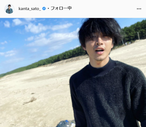 佐藤寛太公式Instagram(kanta_sato_)より