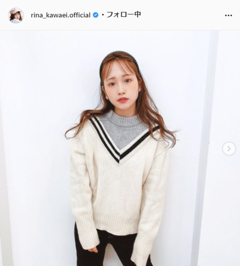 川栄李奈公式Instagram(rina_kawaei.official)より