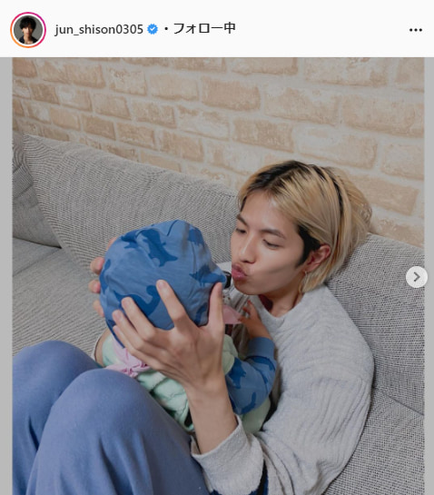 志尊淳公式Instagram(jun_shison0305)より