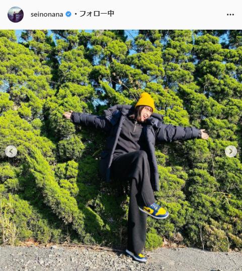 清野菜名公式Instagram(seinonana)より