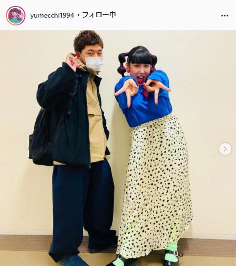 3時のヒロイン・ゆめっち公式Instagram(yumecchi1994)より