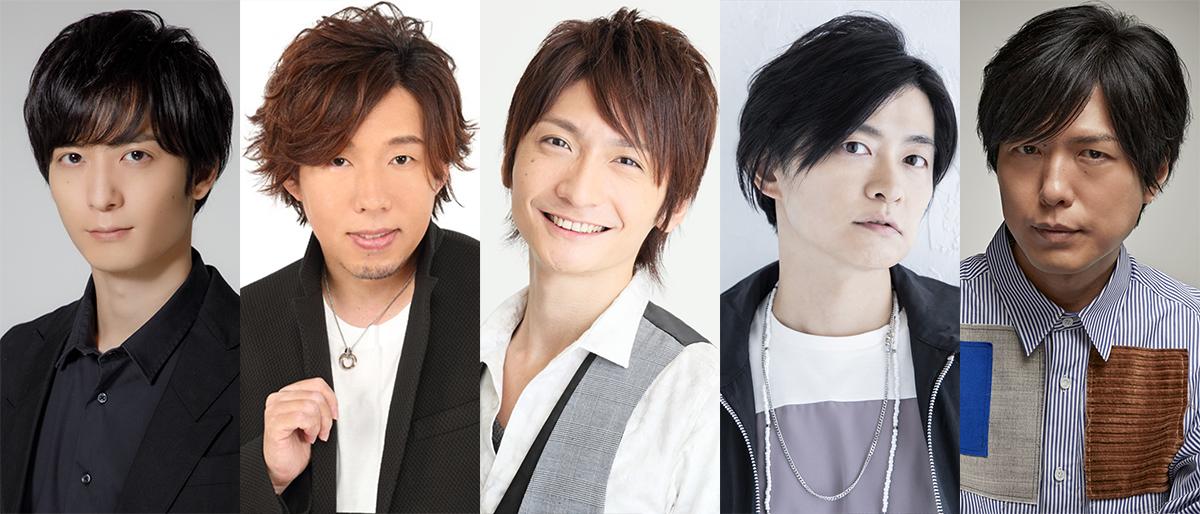 (左から)梅原裕一郎、日野聡、島﨑信長、下野紘、神谷浩史