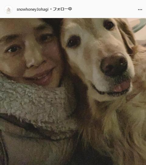 石田ゆり子公式Instagram(snowhoney3ohagi)より