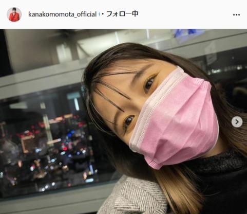 ももいろクローバーZ・百田夏菜子Instagram(kanakomomota_official)より