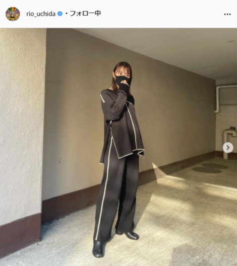 内田理央公式Instagram(rio_uchida)より