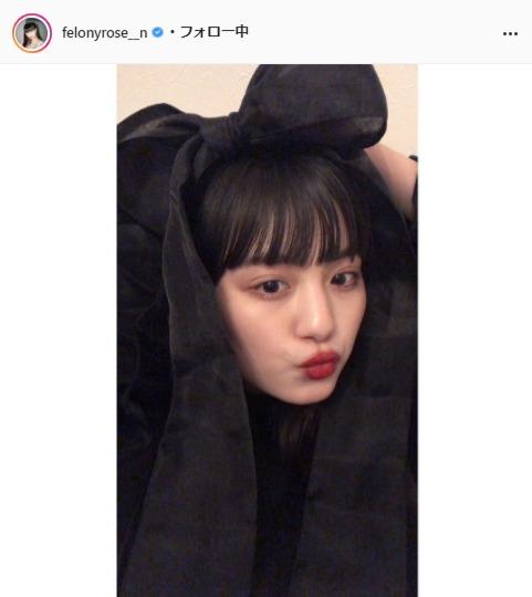 鶴嶋乃愛公式Instagram(felonyrose__n)より