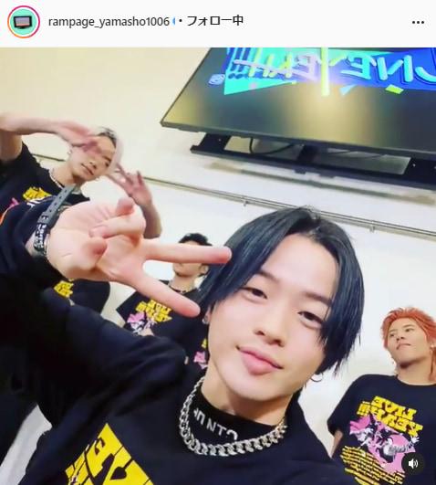 THE RAMPAGE・山本彰吾公式Instagram(rampage_yamasho1006)より