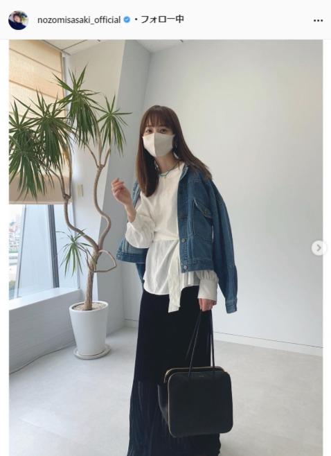 佐々木希公式Instagram(nozomisasaki_official)より