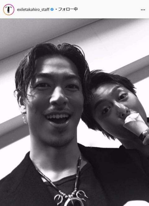 EXILE TAKAHIRO公式Instagram(exiletakahiro_staff)より