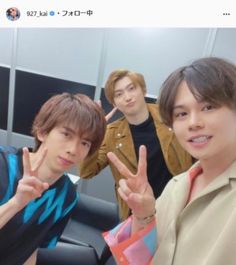 超特急・小笠原海公式Instagram(927_kai)より