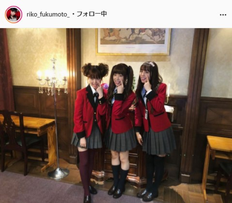 福本莉子公式Instagram(riko_fukumoto_)より