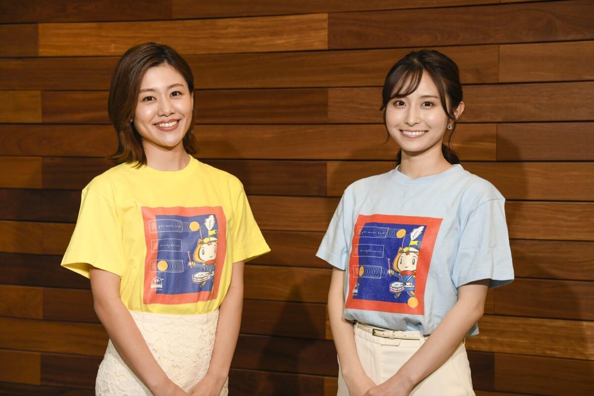 (左から)澤口実歩アナ、佐藤佳奈アナ