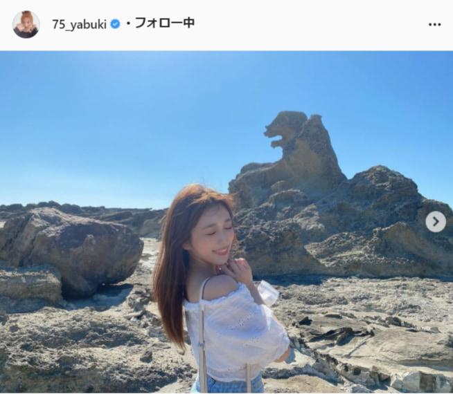 矢吹奈子公式Instagram(75_yabuki)より