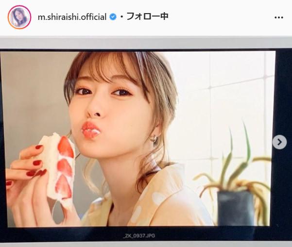 白石麻衣公式Instagram(m.shiraishi.official)より