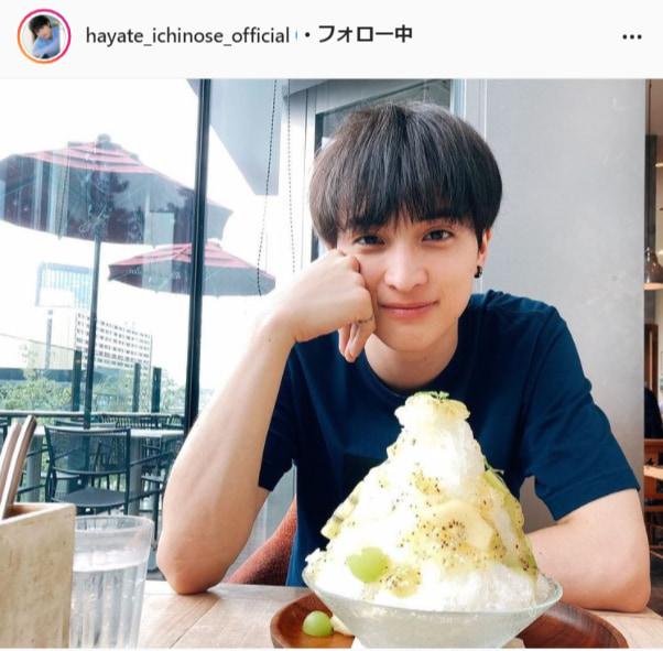 一ノ瀬颯公式Instagram(hayate_ichinose_official)より