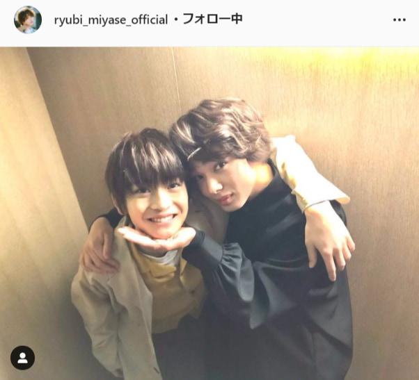 宮世琉弥公式Instagram(ryubi_miyase_official)より