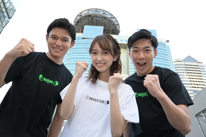 『お笑いの日2021』TBS新人アナウンサーの高柳光希(左)、佐々木舞音(中央)、小沢光葵(右)