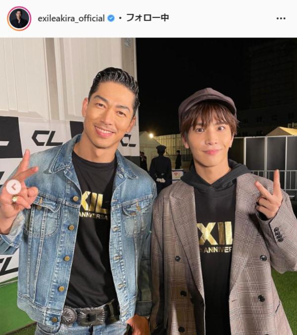 EXILE AKIRA公式Instagram(exileakira_official)より