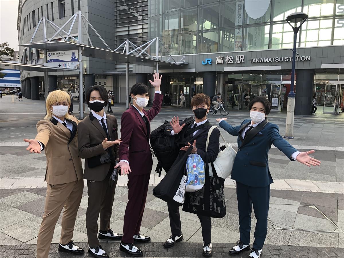 高松駅に到着したA.B.C-Z